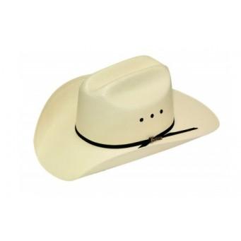 "Twister Shantung 8X Cattleman 3 1/2"" Brim Straw Cowboy Hat"