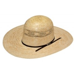 "Twister Bangora Open Crown Wheat 4 1/2"" Brim Straw Cowboy Hat"