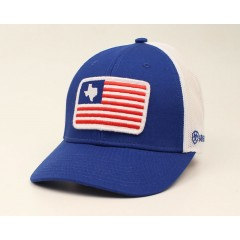 Ariat Red White and Blue Trucker Snapback Cowboy Cap