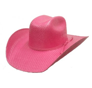 Twister By M&F Kids Fuschia Straw Cowboy Hat