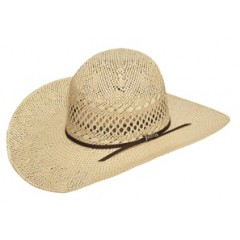 "Twister Jute Two Tone Open Crown 5"" Brim Cowboy Hat"