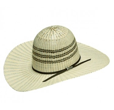 Twister Bangora Open 4 1/2 Brim Two Tone Straw Cowboy Hat