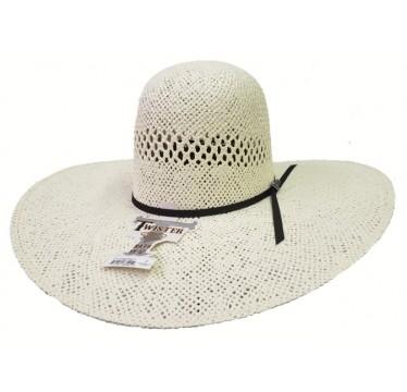 "Twister Jute Open Crown 4.5"" Brim Straw Cowboy Hat"
