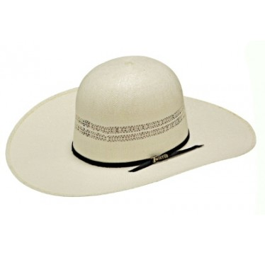 "Twister Bangora Open Crown 4 1/2"" Brim Straw Cowboy Hat"