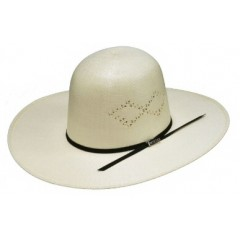 "Twister Ivory Open 4 1/4"" Brim Straw Cowboy Hat"