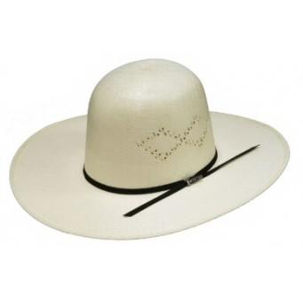 """Twister Ivory Open Crown 4 1/4"""" Brim Straw Cowboy Hat"""