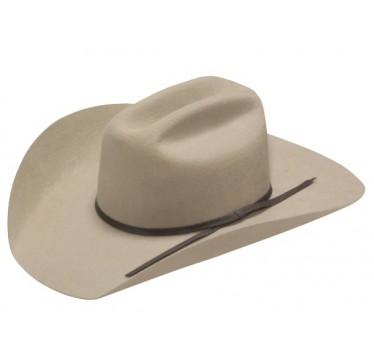 """Twister Kids Grey Cattleman Crown 4"""" Brim Felt Cowboy Hat"""