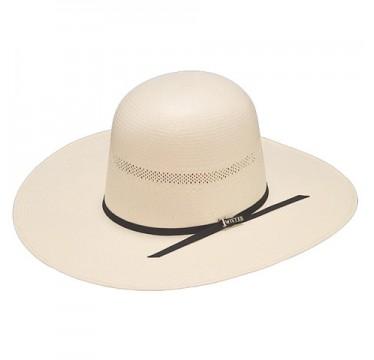 "Twister 20X Shantung Open Crown 4 1/4"" Brim Straw Cowboy Hat"