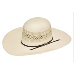 "Twister Shantung Open Crown 4 1/2"" Brim Straw Cowboy Hat"