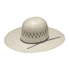 "Twister Shantung Two-Tone 20X Open Crown 4 1/2"" Brim Straw Cowboy Hat"