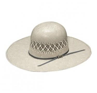"Twister Shantung Two-Tone 20X Open Crown 4 1/2"" Brim Straw Cowboy Hat"