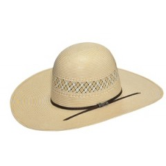 Twister Two Tone Whiskey Open Crown 4.5 Brim Straw Cowboy Hat