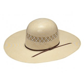 "Twister Two Tone Whiskey Open Crown 5"" Brim  Straw Cowboy Hat"
