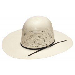 "Twister 20X Ivory Open Crown 4 1/4"" Brim Straw Cowboy Hat"