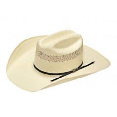 "Twister 20X Shantung Open Crown 4 1/4"" Brim Straw Cowboy Hat"