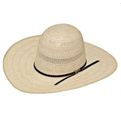"Twister Shantung 20X Open Crown 4 1/4"" Brim Straw Cowboy Hat"
