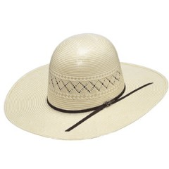"Twister 20X Shantung Two Tone Open Crown 4 1/4"" Brim Straw Cowboy Hat"