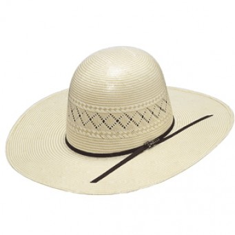 "Twister 20X Shantung Two Tone Open Crown 4 1/4"" Brim Straw Cowboy Hat"