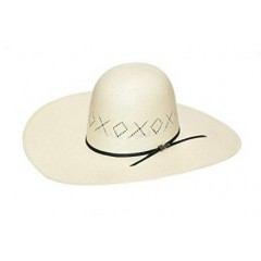 "Twister X's & O's Open Crown 5"" Brim Straw Cowboy Hat"