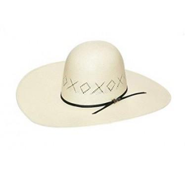 """Twister X & O Vent  6"""" Open 5"""" Brim Straw Cowboy Hat"""