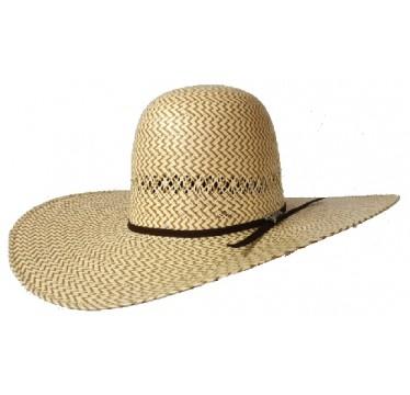"Twister Cowboy Hat by M&F Two Tone Open 5"" Brim Cowboy Hat"