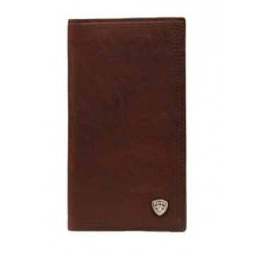 Ariat Smooth Brown Leather Rodeo Wallet