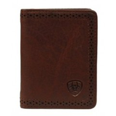 Ariat Smooth Brown Leather Bi-Fold Wallet