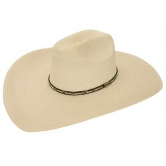 "Atwood Hat Company ™Mountain Cowboy 5"" Brim Palm Straw Hat"