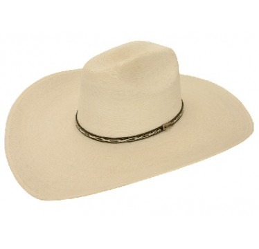 "Atwood Hat Company Mountain Cowboy 5"" Brim Palm Straw Hat"