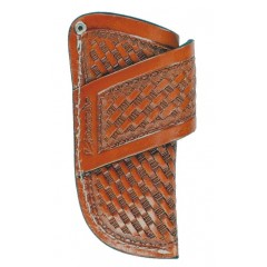 Nocona Leather Goods by M&F Tan Leather Basketweave Knife Sheath