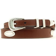 Nocona Belt Company Brown Leather with Conchos Mens Casual Belt