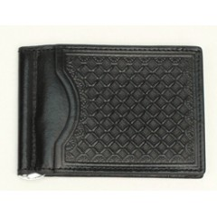 Nocona Black Bi-Fold Money Clip
