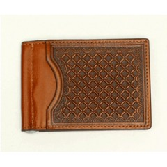 Nocona Tan Bi-Fold Money Clip