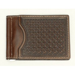 Nocona Chocolate Bi-Fold Money Clip
