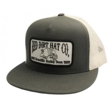 Red Dirt Hat Co. Armadillo Racing Team Charcoal / White Snapback Cowboy Cap