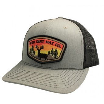 Red Dirt Hat Co. Deer Patch Heather Grey