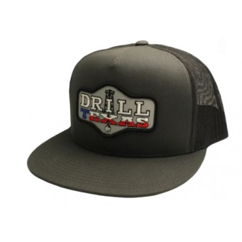 Red Dirt Hat Co. Drill Texas Charcoal/Black Snapback Cowboy Cap