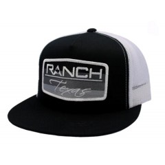 Red Dirt Hat Co. Ranch Texas Black/White Snapback Cowboy Cap