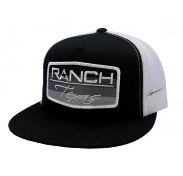 Red Dirt Hat Co. Ranch Texas Black/White Snapback Cowboy Cap