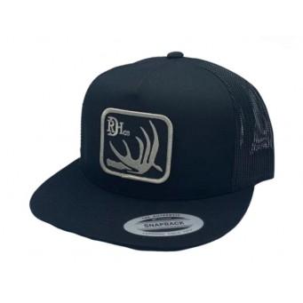 Red Dirt Hat Co. Deer Shed Black/Black Snapback Cowboy Cap