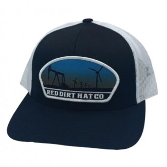 Red Dirt Hat Co. Plains Black/White Cowboy Cap