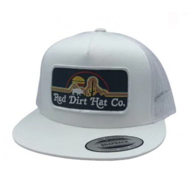 Red Dirt Hat Co. Neon Buffalo Silver/White Snapback Cowboy Cap