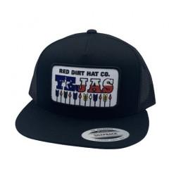 Red Dirt Hat Co. Tejas Black Cowboy Cap