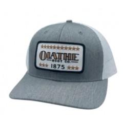 Red Dirt Hat Co. Olathe Boot Company Heather Grey / White Snapback Cowboy Cap
