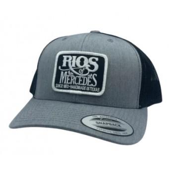Red Dirt Hat Co.  Rios Of Mercedes Heather Grey / Black Snapback Cowboy Cap