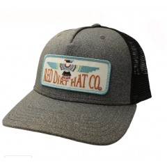 Red Dirt Hat Co. Thunderbird Heather Charcoal/Black Snapback Cowboy Cap