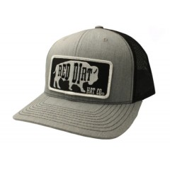 Red Dirt Hat Co. Black Original Buffalo Heather/Grey Snapback Cowboy Cap