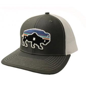 Red Dirt Hat Co. Alamo Buffalo Charcoal/White Cowboy Cap
