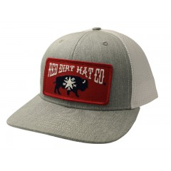 Red Dirt Hat Co. Republic of Texas Grey/White Cowboy Cap
