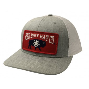 Red Dirt Hat Co. Republic of Texas Grey/White Cowboy Cap
